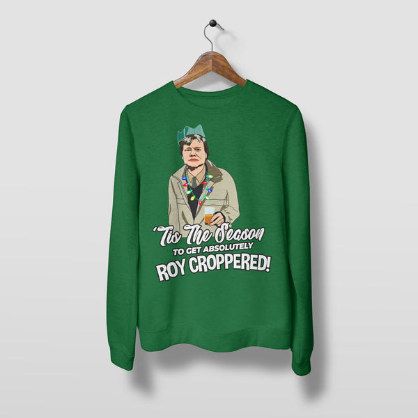 Roy Croppered - Unisex Christmas Jumper Christmas Jumpers The Manc Store Small Green