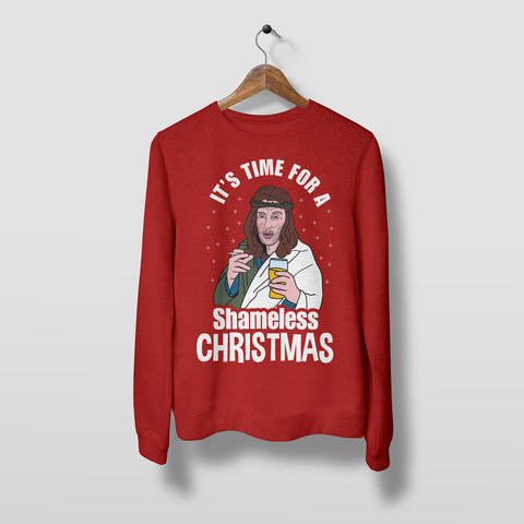 Shameless Christmas - Unisex Christmas Jumper Christmas Jumpers The Manc Store XSmall Red