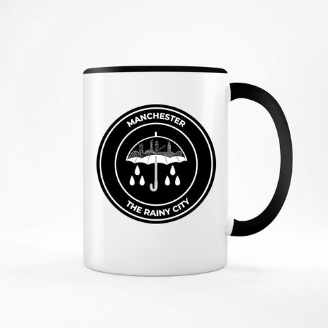 The Rainy City Two Toned Mug The Manc Store Black