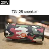 Portable Bluetooth Speaker 20W Wireless Bass Column Waterproof Outdoor Speaker Support FM AUX TF USB Subwoofer Loudspeaker TG125