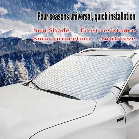 Car Covers Car Windscreen Cover Anti Snow Frost Ice Windshield Dust Protector Heat Sun Shade Ice Large Snow Dust Protector