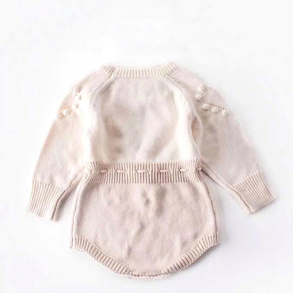 Cream Knit Romper Romper Hearts of Gems