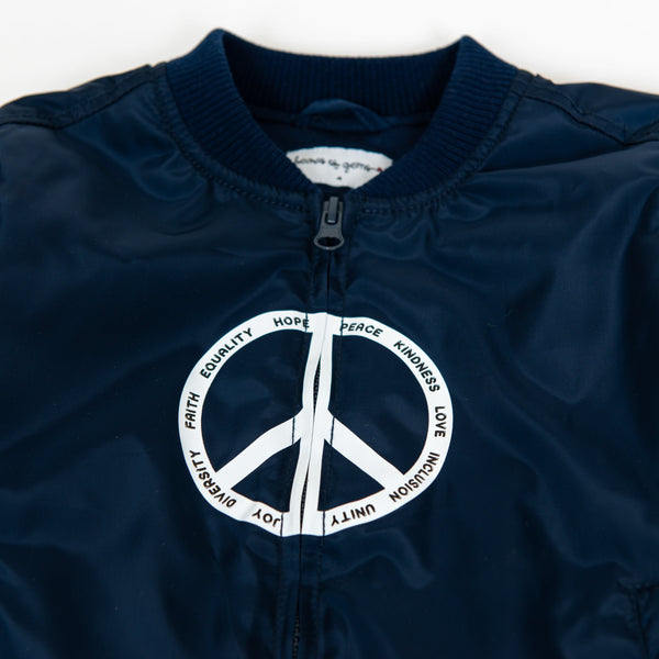 Elements of Peace Blue Bomber Jacket for Toddlers Jacket Hearts of Gems