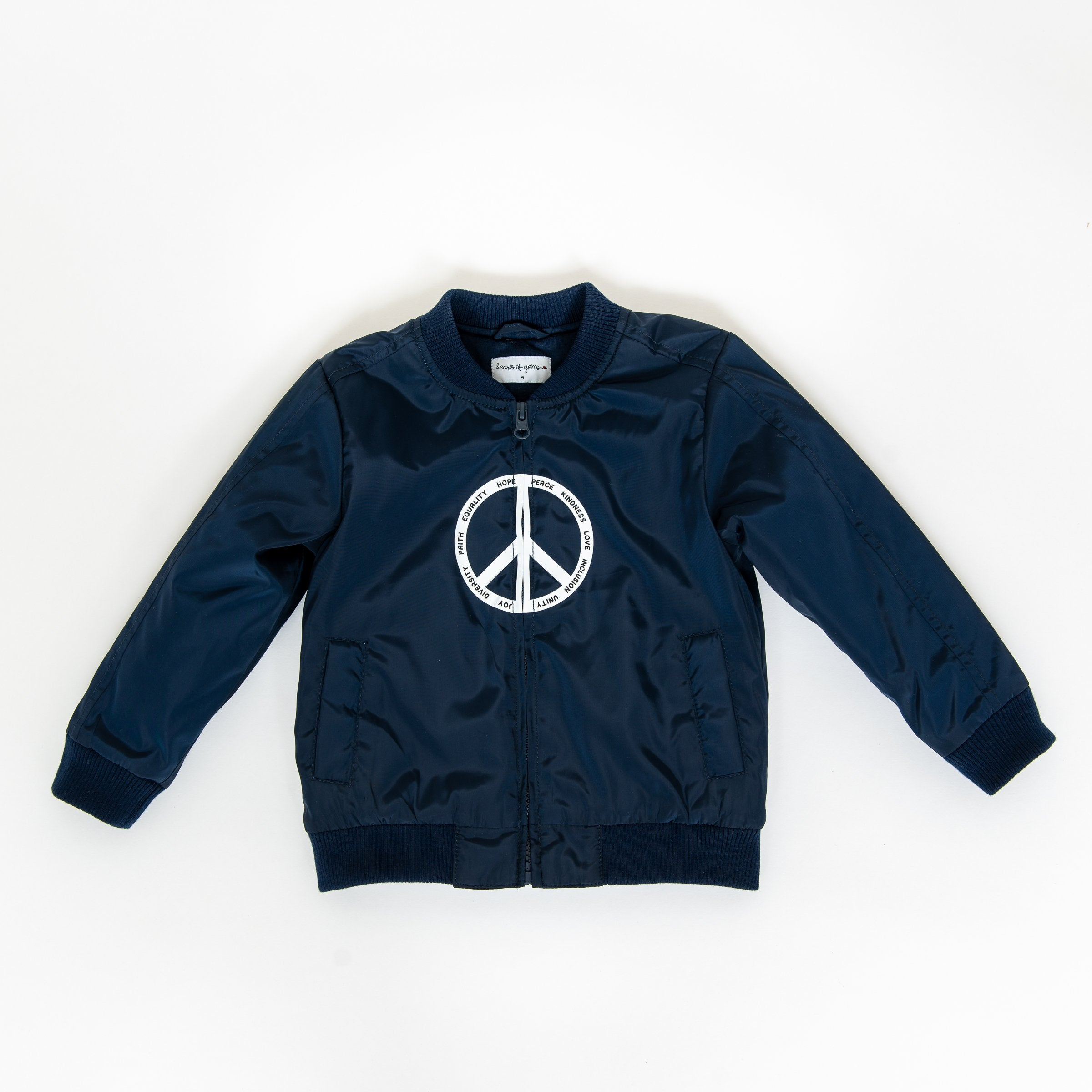 Elements of Peace Blue Bomber Jacket for Toddlers