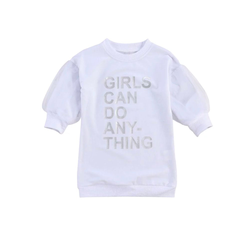 Girls Can Do Anything Sweatshirt Dress for Toddlers