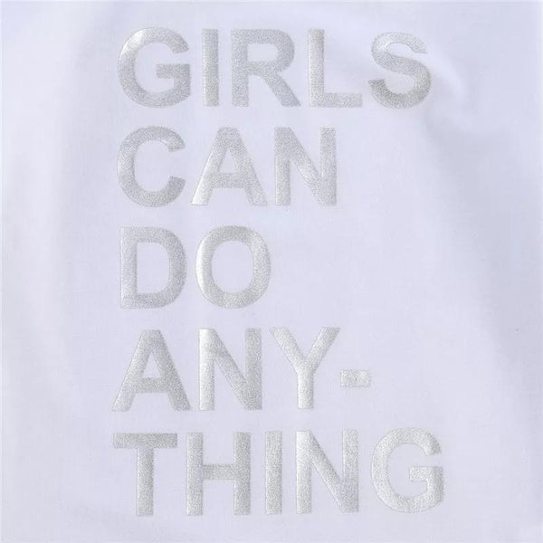 Girls Can Do Anything Sweatshirt Dress Dress Hearts of Gems