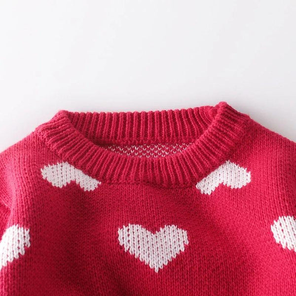 Hearts Sweater for Toddlers Sweater Hearts of Gems