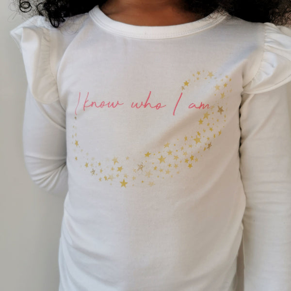 I Know Who I am Flutter Long Sleeve Top Tops Hearts of Gems
