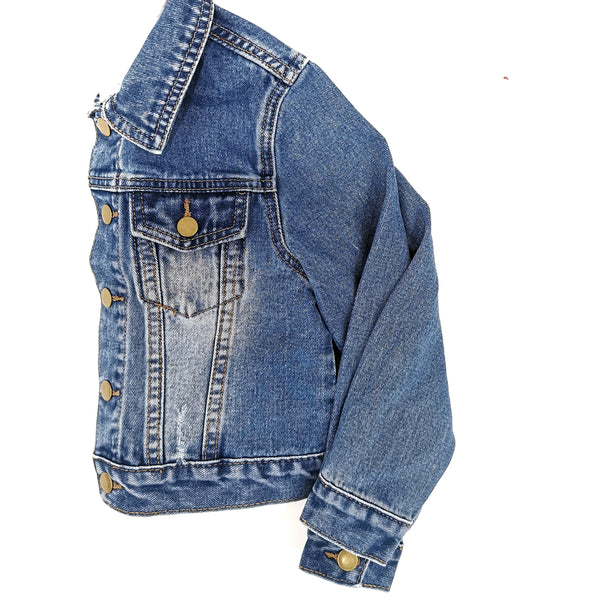 Unisex Peace Denim Jacket with Detachable Hood Jacket Hearts of Gems
