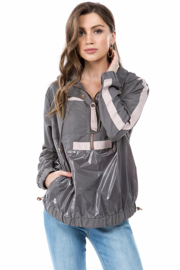 Nylon Active Pullover Jacket