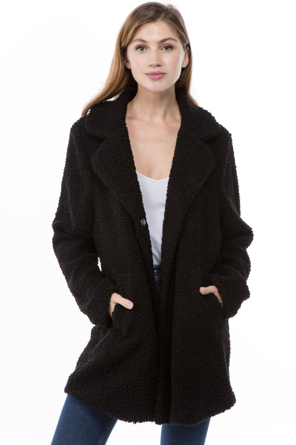 Looped Teddy Coat