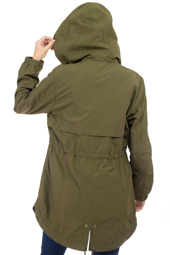 Zipper Pocket Nylon Anorak Jacket