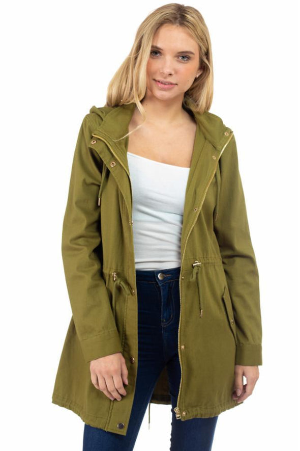 Long Hooded Anorak Jacket