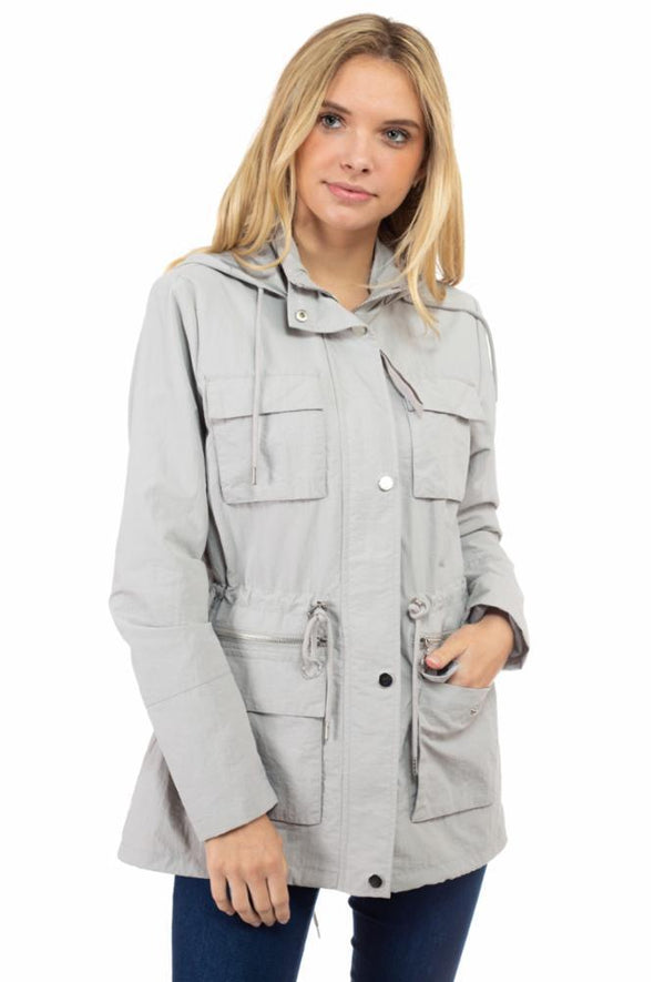 Dry Nylon Anorak Jacket with Cargo Pockets