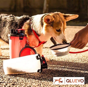 Multi-Use Pet Travel Feeding Bottle & Collapsible Bowls