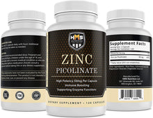 Load image into Gallery viewer, Zinc Picolinate Capsules - 50mg