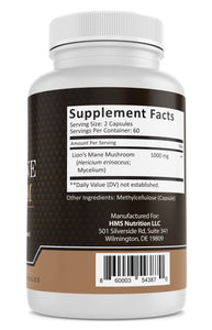 Lion's Mane Mushroom Supplement - 1000mg