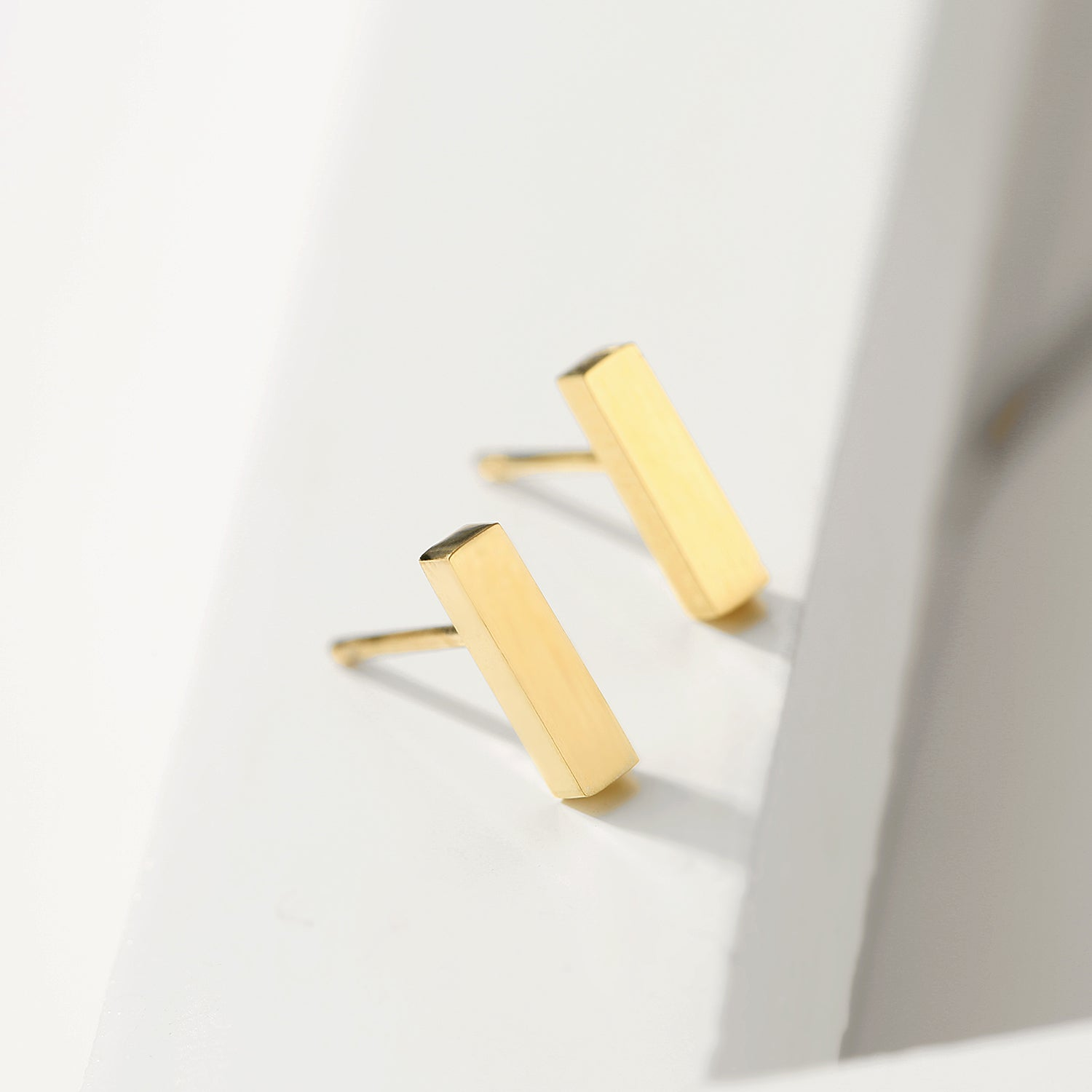 Gold Bar Earrings