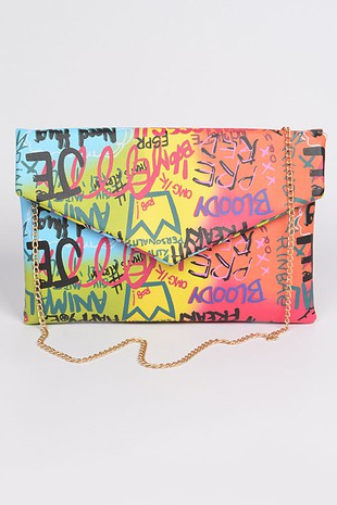 Graffiti Clutch- Multi