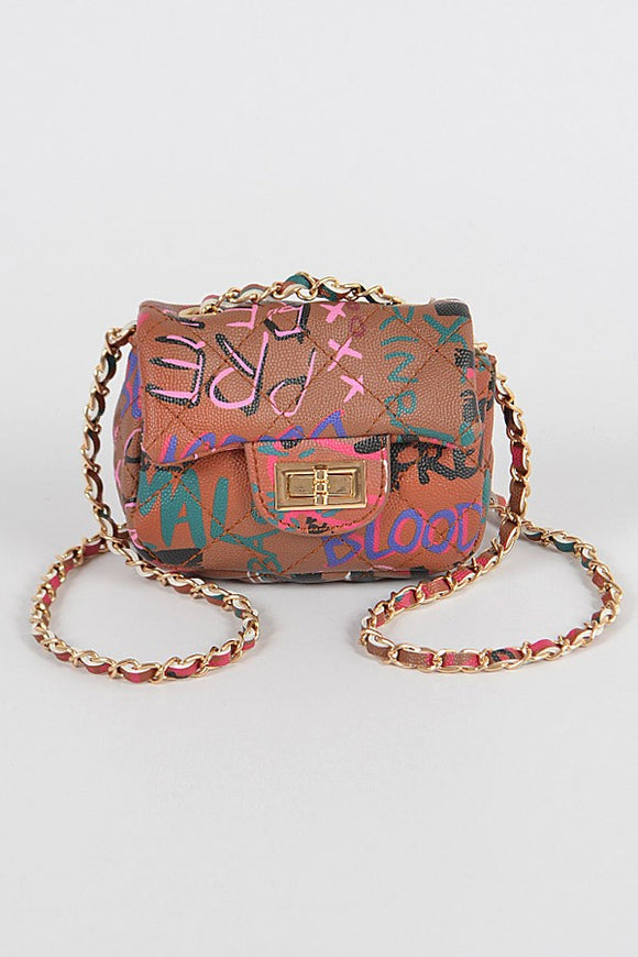 Mini Graffiti Bag-Camel