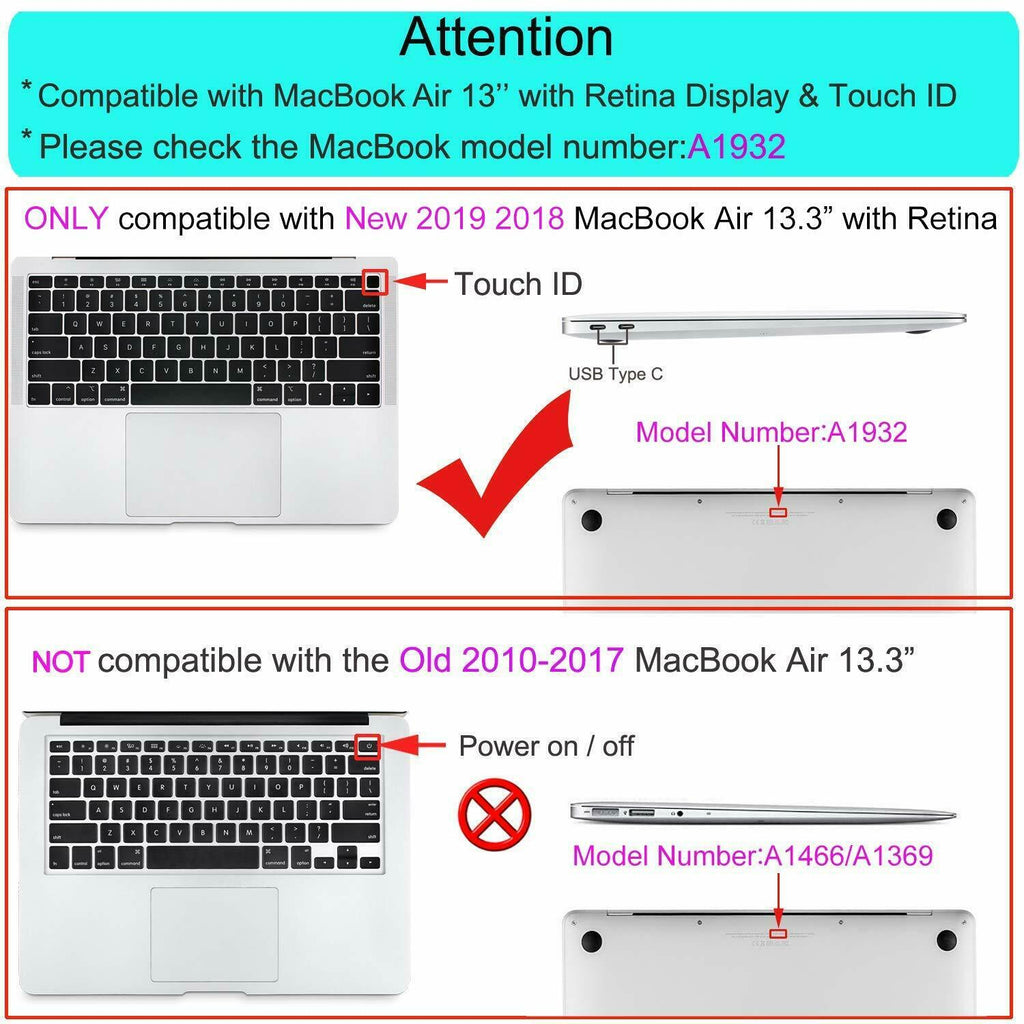 "13"" Macbook Air Case Cover / Laptop Hard Shell Case + Keyboard Cover"