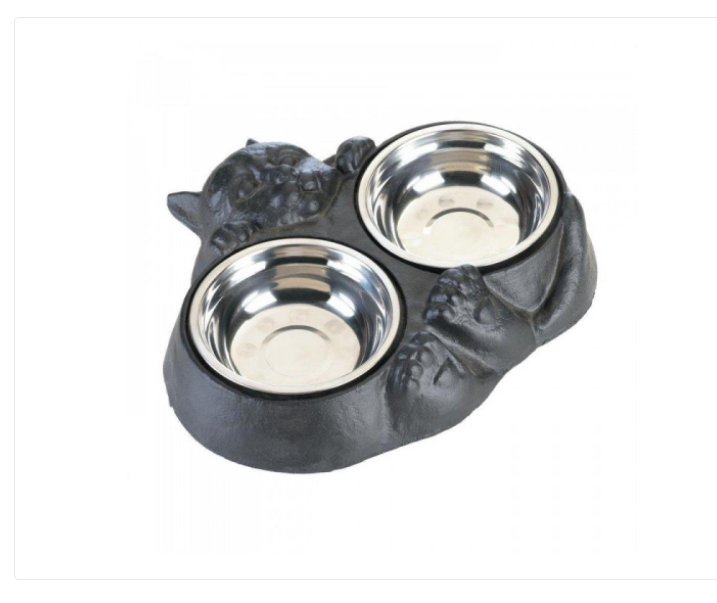 Kitty Cat Pet Bowl /Dish  Water and Food Set