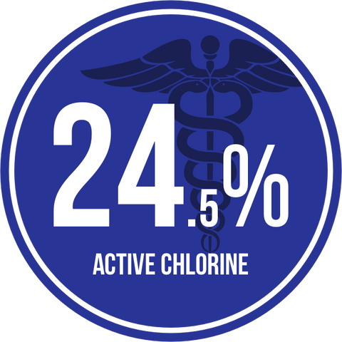 24.5 Percent Active Chlorine