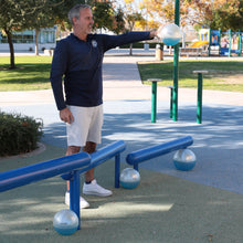 Load image into Gallery viewer, man exercising outside with a set up weighted Sphera2.0 therapy medicine balls