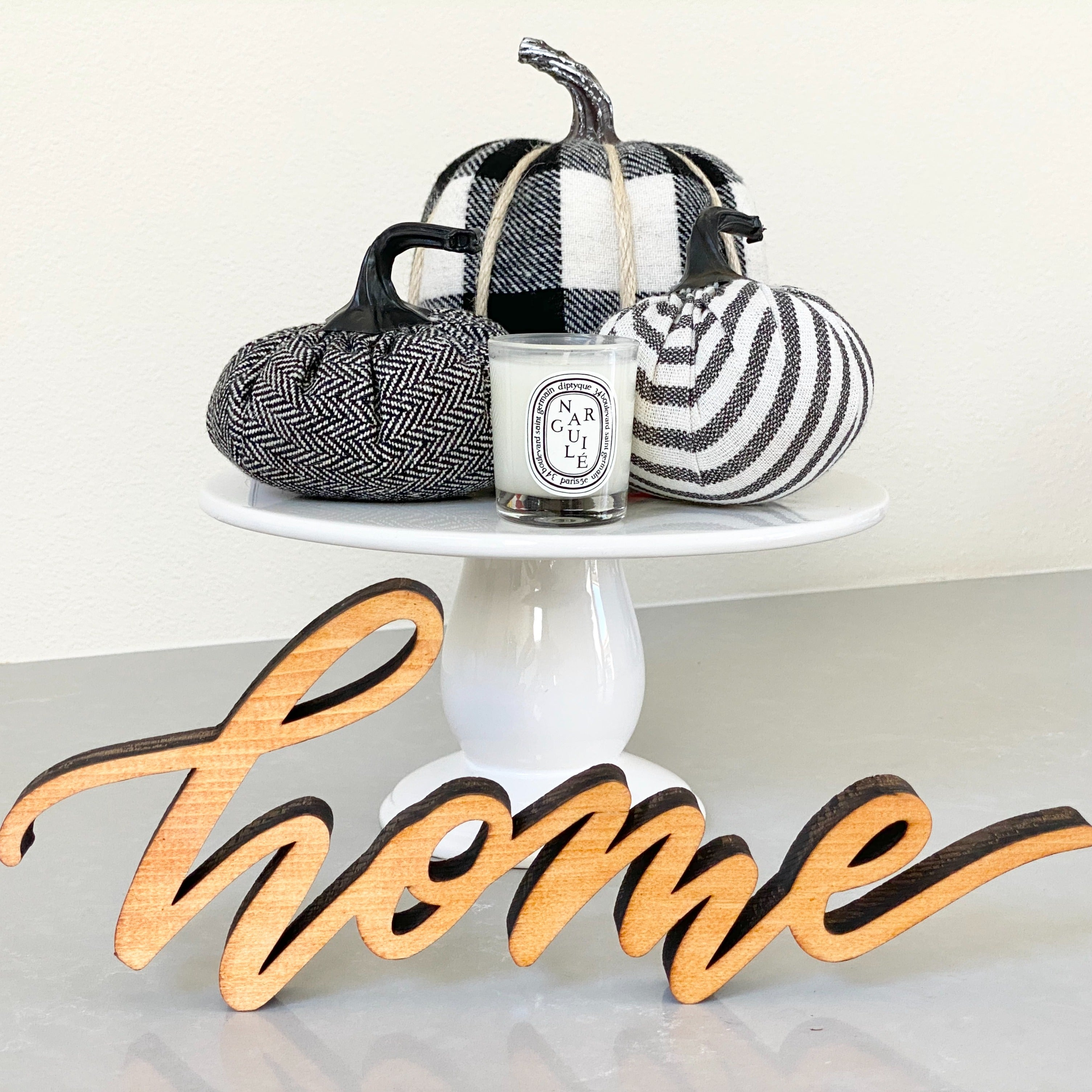 """Home"" Free Standing Wood Sign"
