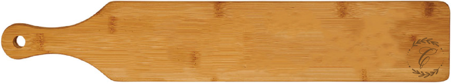 "Bamboo Paddle Cutting Board Engraved 4"" x 22"""