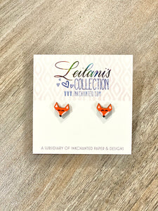 Studded Fox Earrings