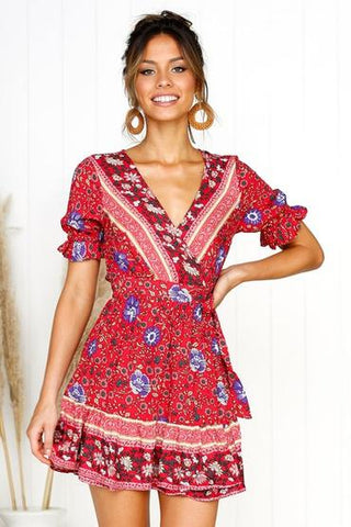 one piece dress, printed dress,