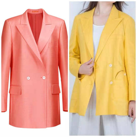 casual suit, bright color suit