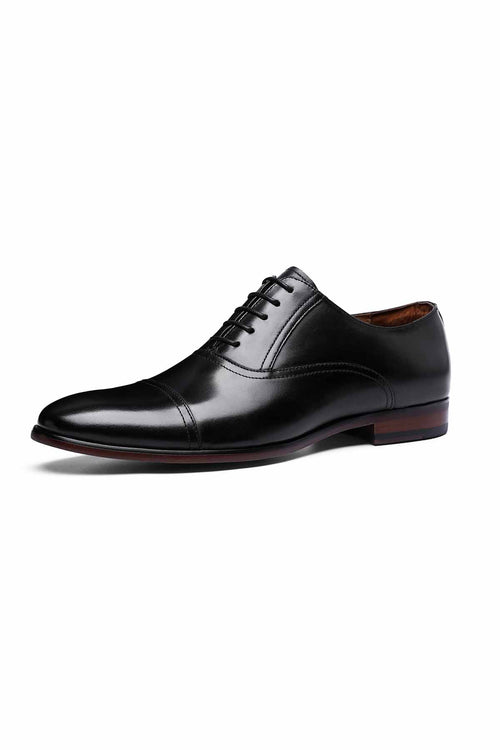 WearWhale Men Black/Brown Classic Design Handmade Craft Oxford Shoes Formal Wear