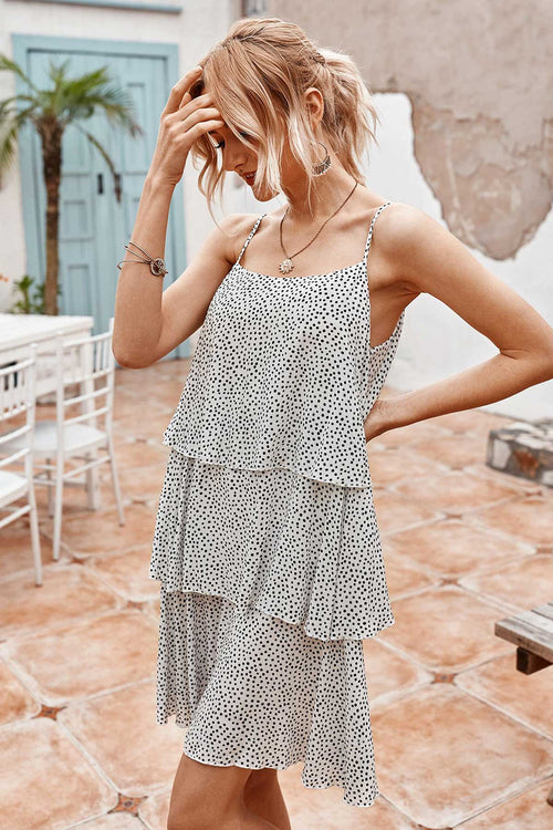 WearWhale Women's Fashion Loose Dress 2020 Summer Wave Point display Mini Clavicle Sling Dress