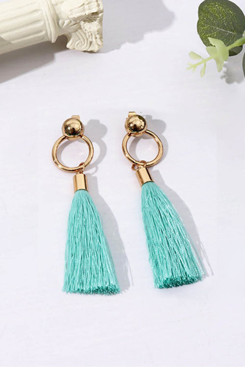 WearWhale Long Tassel Dangle Earrings for Women Bohemian Gold Plated Earrings Hanging Exquisite Fashion Jewelry for Women