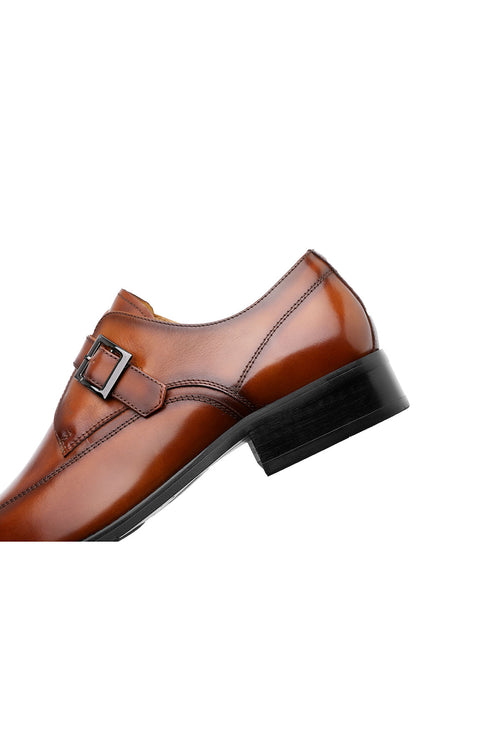 WearWhale Men Modern Casual Formal Monk Strap Shoes Business Meeting Date