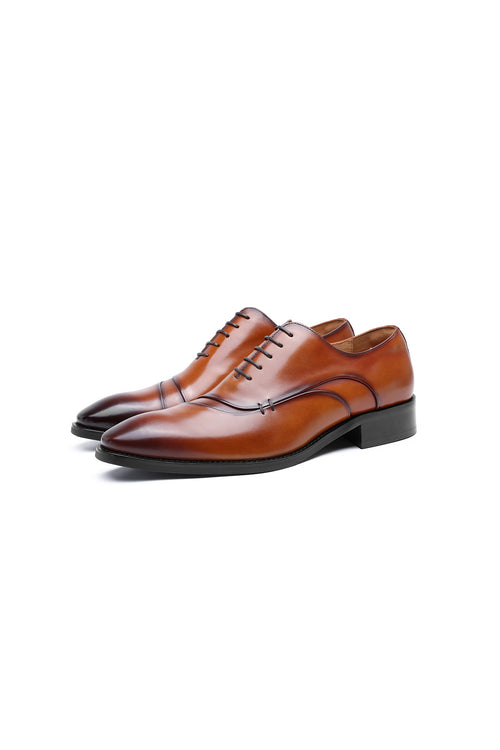 WearWhale Men Oxford Shoes Daily Wear Business Casual Meeting Date Leather High Fashion