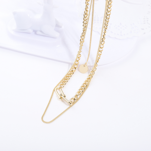 WearWhale Gold Plated Necklaces for Women Paperclip Link Layered Necklace Vintage Chain Necklace Personalized Jewelry for Women