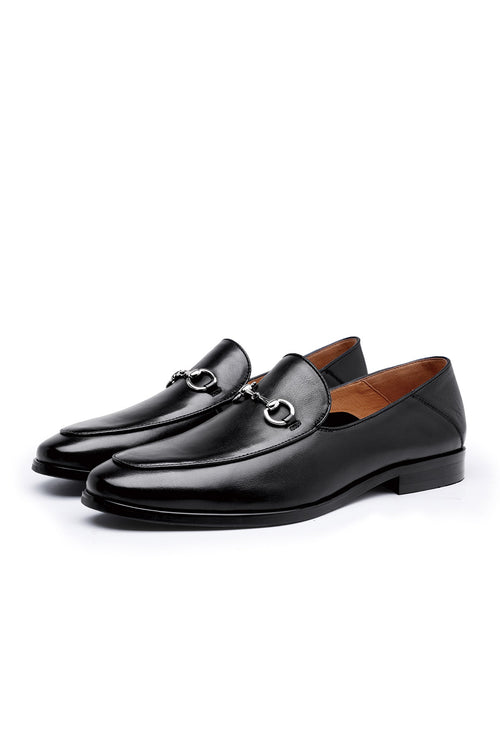 WearWhale Men Black/Brown Loafers Shoes Business Wear Formal Shoes Handmade Craft