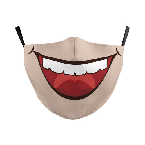 Mouth Printed Washable Face Cover