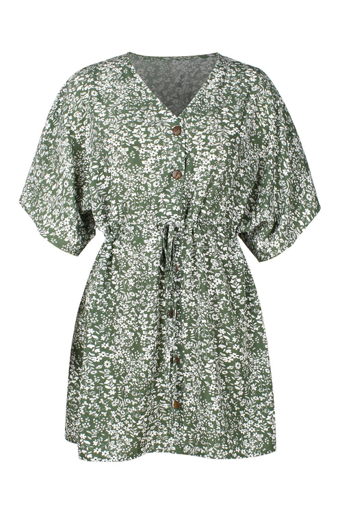 WearWhale Women's Designer Clothes European and American Hot Floral Dress