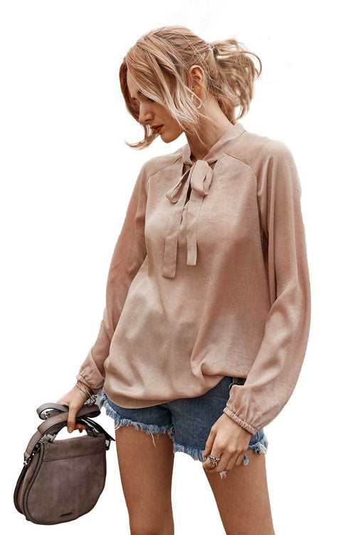 WearWell Women's Long-sleeved Solid Color Mid-to-high-end Casual Top