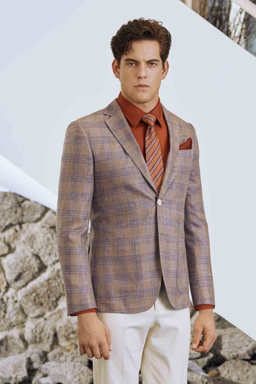Mens Italian Casual Customized Formal Slim Fit Suit