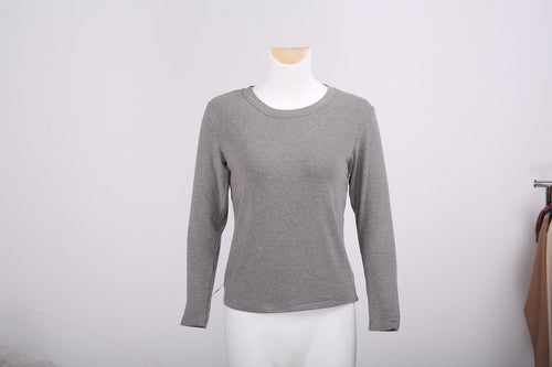 WearWhale Women Rose Fiber Fabric Ordinary round neck bottoming shirt Self-Heating In 3 Seconds