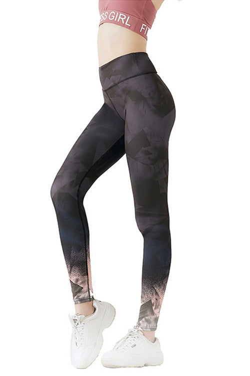 WearWhale Women's Workout Dark Grey Comfort Stretch Leggings Running Yoga Side Stripe Trim Pant
