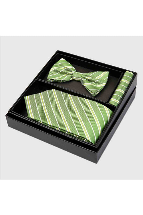 WearWell Men's Classic Tie Set Silk Necktie and Bow Tie