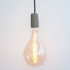 A165 6W E27 2200k Large Tear Drop Double Soft Spiral LED Filament Bulb Gold Tint Glass | Vintage LED