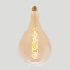 A165 Large Giant Tear Drop LED 6W Filament Bulb with E27 fitting