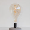 A165 Large Tear Drop Spiral LED Filament Bulb | Vintage LED